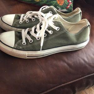 1cf771bf713d39 Converse Shoes - Rare Olive Green Converse. Sz 9